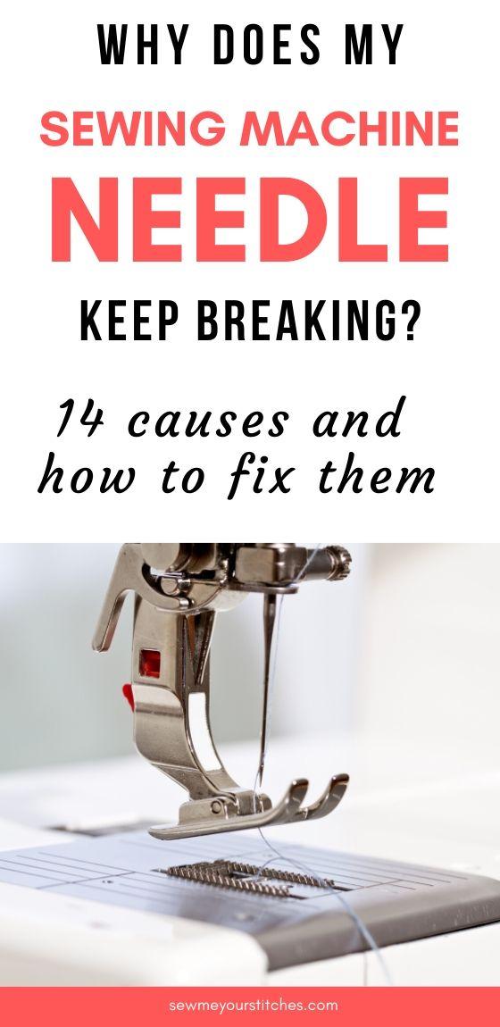 broken sewing machine needle